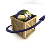 Weltweites Anlieferungs-Konzept Stockbild