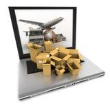 Weltweites on-line-Transportorganisieren Lizenzfreies Stockbild