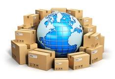 Weltweites Verschiffenvektorkonzept Lizenzfreies Stockfoto