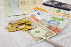 Weltwährung Stockfotografie