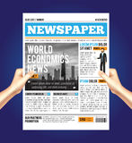 Weltwirtschaftliche Zeitungs-Zusammensetzung vektor abbildung