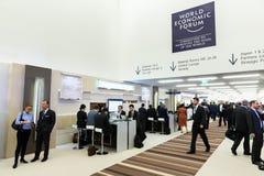 Weltwirtschaftsforum in Davos (die Schweiz) stockfotografie