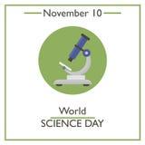 Weltwissenschafts-Tag 10. November Stockfotos