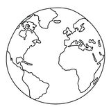 Weltzeichnung lizenzfreie abbildung