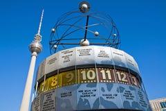 Weltzeituhr em Alexanderplatz Fotografia de Stock Royalty Free
