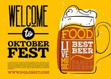 WelWelcome al cartel de Oktoberfest Fotografía de archivo libre de regalías