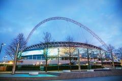 Wembley stadion i London, UK Arkivbild