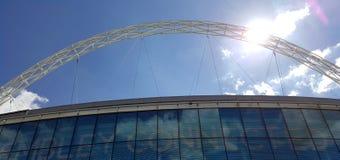 Wembley Stadium, a casa do futebol inglês imagem de stock