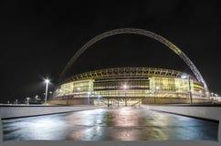 Wembley Stadium in London. Wembley Stadium at night in London, England Royalty Free Stock Image