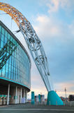 Wembley stadium in London, UK. LONDON - APRIL 6: Wembley stadium on April 6, 2015 in London, UK. It's a football stadium in Wembley Park, which opened in 2007 on Stock Photography