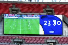 Wembley Stadium scoreboard shows final score Royalty Free Stock Photography