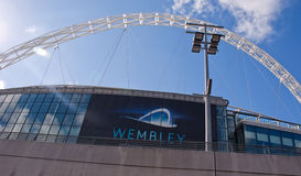 Wembley stadium at a sunny day Stock Photo