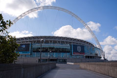 Wembley stadium at a sunny day Stock Image