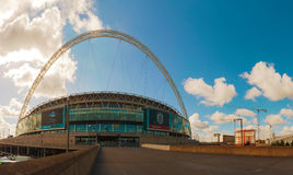 Wembley stadium w Londyn, UK na słonecznym dniu Obraz Stock