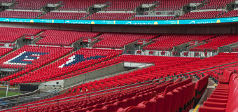 At Wembley tribunes Royalty Free Stock Images