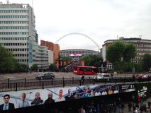 Wembley way. England vs Peru Stock Images