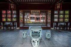 Wen Miao Konfucius tempelshanghai porslin fotografering för bildbyråer