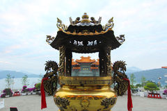 Wen Wu Temple, lago Sunmoon, Taiwán Fotografía de archivo
