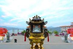 Wen Wu Temple, lago Sunmoon, Taiwan Fotografie Stock
