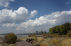 Wen Ying Lake-Landschaft lizenzfreie stockfotografie