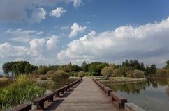 Wen Ying Lake-landschap stock foto's