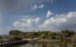 Wen Ying Lake landskap Royaltyfri Foto