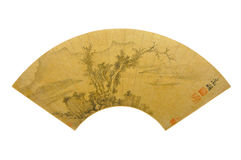 Wen Zheng Ming Dynasty and ancient trees and map Stock Image