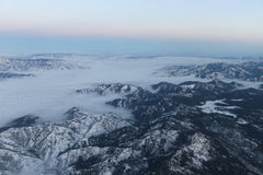 Wenatchee鸟瞰图在云彩包括 免版税库存图片