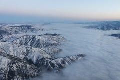 Wenatchee鸟瞰图在云彩2包括 库存照片