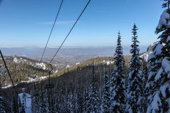Wenatchee滑雪山景 库存照片