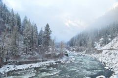 Wenatchee flod Fotografering för Bildbyråer