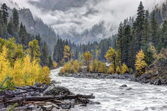 Wenatchee river through the mountains. Royalty Free Stock Photo