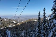 Wenatchee ski mountain view Stock Photos