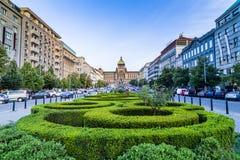 Wenceslas-Quadrat in Prag Stockfotografie