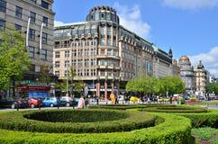 Wenceslas-Quadrat in Prag Lizenzfreie Stockbilder