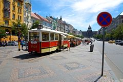 Wenceslas Square Royalty Free Stock Photos