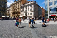 Wenceslas Square Stock Afbeeldingen