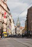 Wenceslas Square Ansicht des Henry's-Turms lizenzfreies stockbild