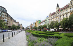 Wenceslas Square in centre of Prague. Royalty Free Stock Image