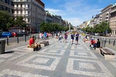 Wenceslas Square Royalty Free Stock Image