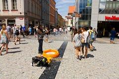 Wenceslas Square Stock Photo