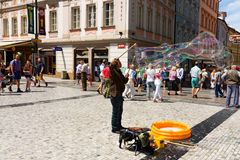 Wenceslas Square Royalty Free Stock Images