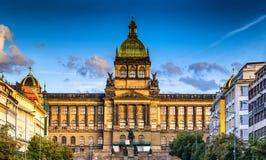 Wenceslas Square in Prague Stock Photos
