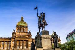 Wenceslas Square in Prague Royalty Free Stock Images