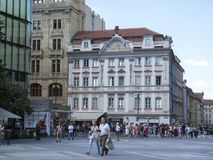 Wenceslas Square, Prague Royalty Free Stock Image