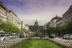 Wenceslas square, Prague Royalty Free Stock Photography