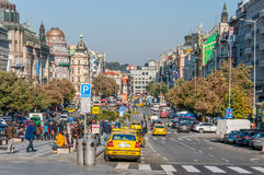 Wenceslas Square in Prague Royalty Free Stock Images