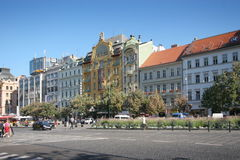 Wenceslas square Stock Images