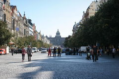 Wenceslas square Stock Image