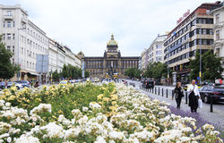Wenceslas Square in Prague. Royalty Free Stock Photography